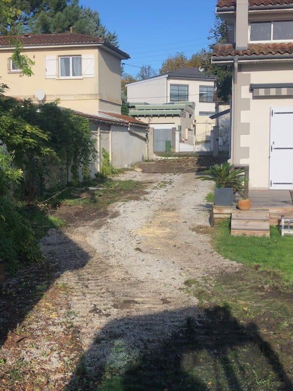 Demolition dun Garage et Murette a Cauderan 2